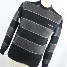 Pierre Cardin Grey Striped Mens Jumper Size S