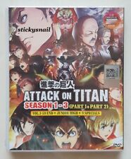 Anime DVD Attack on Titan COMPLETE Season 1-3 + Junior High + 9 Specials ENG SUB