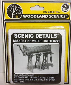 HO/HOn3 Scale Woodland Scenics 'Branch Line Water Tower' KIT, Item #D241