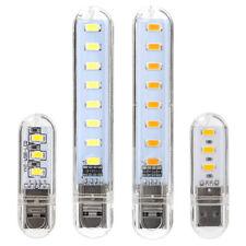 Mini Pocket USB LED Night Light 8LEDs 5V Bulb Lamp Gadget for Reading Notebook