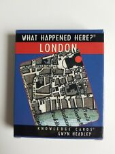 What Happened Here London By Gwyn Headley Knowledge Trivia History Cards