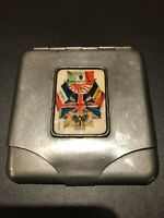 WW2 Cigarette Case - British Made - Italy Joins 24 May1919 France/Russia/Belgium