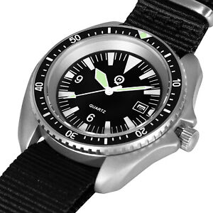 ROYAL NAVY MILITARY DIVERS WATCH - steel finish