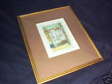 LOVELY FRAMED LITHO~SIGNED A. RENOUX~117/225~PARIS~URBAN REALISM