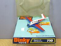 """DINKY TOYS  MODEL No.710   BEECHCRAFT S35   """" BONANZA """"  AIRCRAFT           MIB"""