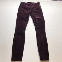 Gap Purple Plum Velvet Side Zip Legging Skinny Pants Size 25 A932
