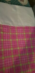 Bedskirt Double/Full Pink Plaid