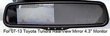Rear View Monitor 4.3 inch Toyota Tundra 2007 - 13 for Aftermarket Backup Camera