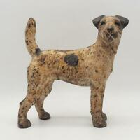 "Vintage 9"" Hubley Cast Iron Terrier Dog Door Stop 6 Lbs 2 oz"