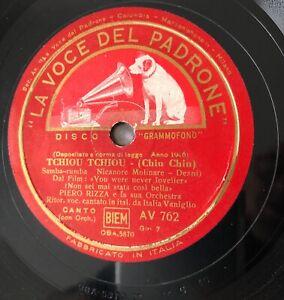 """RARE 10"""" 78RPM ITALIA VANIGLIO PIERO RIZZA ORCHESTRA TCHIOU TCHIOU (CHIU CHIU)"""