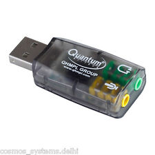 Quantum USB 3D Sound Card QHM623 5.1 Virtual Stereo & Mic for PC Laptop Desktop