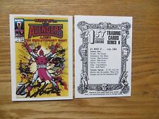 1991 MARVEL 1ST COVERS WHAT IF AVENGERS LOST CARD SIGNED ROY THOMAS, WITH POA