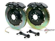 Brembo Front GT Big Brake 4Pot Caliper Black 332x32 Slot Rotor Supra JZA80 93-98