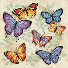 Cross Stitch Kit ~ Dimensions Colorful Graceful Butterfly Profusion #35145