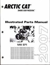 2007 ARCTIC CAT SNOWMOBILE M8 EFI PARTS MANUAL P/N 2257-753  (463)