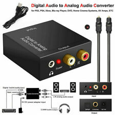 Optical Coaxial Toslink Digital to Analog Audio Converter Adapter RCA 3.5mm *wk