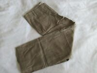 Ann Taylor LOFT =Flat Front Capri Brown/Tan Pants Women's Black 6P Petite