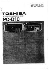 Service Manual-Anleitung für Toshiba PC-D10