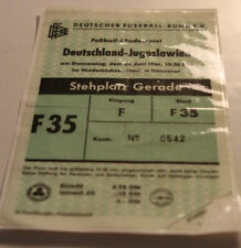 Ticket for collectors * West Germany - Yugoslavia Serbia 1966 Hannover
