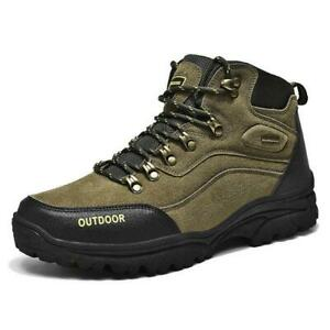 Mens Waterproof Leather Hiking Boots Chic Outdoor Warm Sneaker Sports Shoes 0109