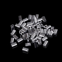 50 stücke 1,5mm Kabel Crimps Aluminiumhülsen Kabel Drahtseil Clip Fitting ^ ML