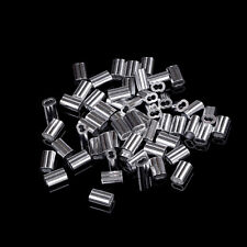 50pcs 1.5mm Cable Crimps Aluminum Sleeves Cable Wire Rope Clip Fitting PopjgG