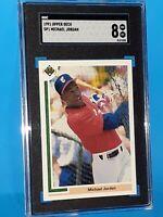1991 Michael Jordan Upper Deck #SP1 Baseball Rookie SGC 8 NM/MINT