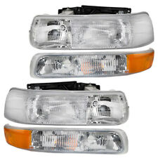Silverado Pickup Truck Suburban Tahoe 4 Pc Set of Headlights & Side Marker Lamps