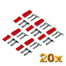 20 Paar JST BEC 2Pin Stecker Buchse Male Female Lipo Akku Krimpen Lose Crimp Set