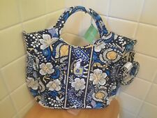 Vera Bradley Ellie Blue Two-Way Tote Snap Crossbody Tote and Handbag retired NWT