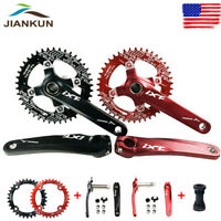 170mm Crank MTB Bike Crankset BB 104bcd 32-42T Round Oval Narrow Wide Chainring