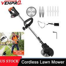 Cordless String Grass Trimmer Weed Eater Lawn Mower With 24V Batteries