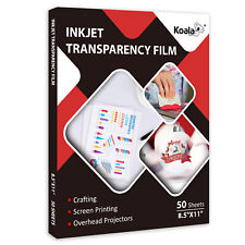 Clear Transparency Film For Inkjet Amp Laser 85x11 50 Sheets Screen Printing