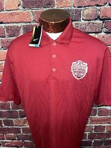 Nike Alabama Crimson Tide back to back Mens XL Short Sleeve Golf Polo Shirt New
