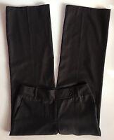 EUC Women's Ann Taylor Virgin Wool Margo Brown Linen Pinstripe Dress Pants-Sz 8