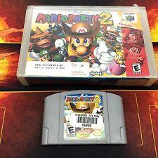 MARIO PARTY 2 N64 ( NINTENDO N64 ) Video Game w/ Box & Manual + Hard Case