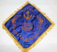 Vintage WW II U.S. Navy My Mother Souvenir Fringed Pillow Cover