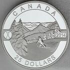 Canada 2014 $25 Skiing Canada's Slopes 1 oz Pure Silver Proof Coin O Canada #2