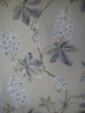 "SANDERSON CURTAIN FABRIC DESIGN ""Chestnut Tree"" 1.9 METRES WHEAT/PEBBLE WOODLAND"
