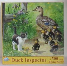 SunsOut DUCK INSPECTOR Kitten Baby Ducks 500 Piece Jigsaw Puzzle Persis Weirs