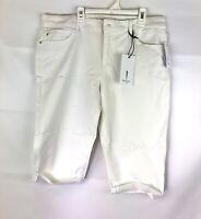 Skinnygirl, Women's The Skimmer White Mid Rise Shorts, Size 31/12