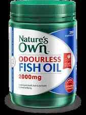 Natures Own Odourless Fish Oil 2000mg 200 Capsules - Double Strength