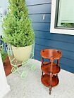 Beautiful Vintage Ethan Allen Old Tavern Pine 3-Tier Side Table Plant Stand W@W