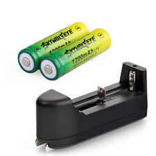 2pcs SKYWOLFEYE 14500 Rechargeable Battery 3.7V 1200mAh Li-ion + Smart Charger