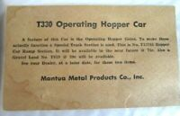 TYCO-Mantua Boston & Maine - T330 Operating Hopper Car CARD ONLY - D9-55