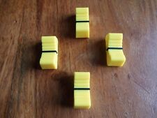 X 4 faders bouton table de mixage JAUNE / YELLOW  X 4 NEUF/ FIXATION 8 mm