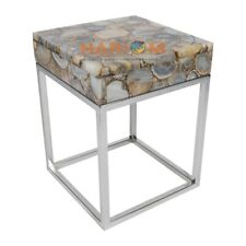 """24"""" Lighter Natural Color Agate Coffee Table Top Stone Art Furniture Decors A018"""
