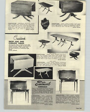 1957 PAPER AD Craddock Dinning Room Table Set Furniture Drop Leaf Extensole