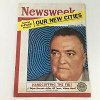 VTG Newsweek Magazine September 2 1957 FBI Director J. Edgar Hoover, Newsstand