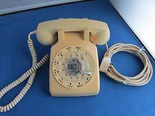 WESTERN ELECTRIC 500 IVORY HARDWIRED DESK TELEPHONE W/ G6 VOLUME CONTROL HANDSET